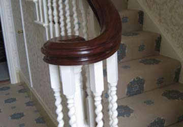 Staircase handrail scroll - finished