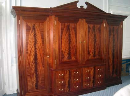 Bespoke wooden wardrobe